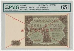 SPECIMEN 1.000 złotych 1947 - Ser.A - PMG 65 EPQ