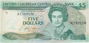 Karaiby Wschodnie (Montserrat), 5 dollars 1986