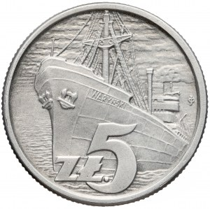 Próba ALUMINIUM 5 złotych 1958 Waryński (1 z 20 szt)