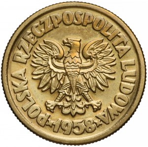 Próba MOSIĄDZ 5 złotych 1958 Waryński (1 z 5 szt)