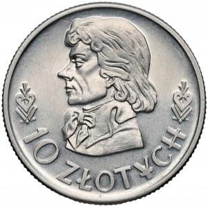 Próba ALUMINIUM 10 złotych 1958 Kościuszko (1 z 5 szt)