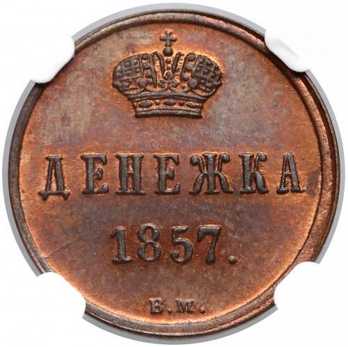 Dienieżka 1857 BM, Warszawa - PIĘKNA i rzadka - NGC PF64 BN