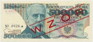WZÓR 500.000 złotych 1990 - A 0000000 - No.0826