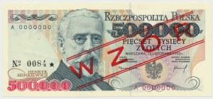 WZÓR 500.000 złotych 1993 - A 0000000 - No.0084