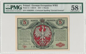 Generał 5 mkp 1916 ...Biletów - PMG 58 EPQ