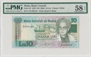 Malta, 10 liri 1967 - PMG 58 EPQ