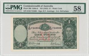 Australia, 1 pound (1942) - PMG 58