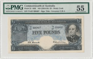 Australia, 5 pounds (1954-59) - PMG 55