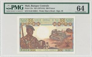 Mali, 500 francs (1973-84) - PMG 64
