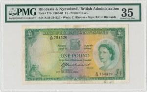 Federacja Rodezji i Niasy, 1 pound 1960 - PMG 35