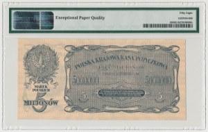 5 mln 1923 - PMG 58 EPQ