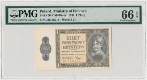 1 złoty 1938 Chrobry - ID - PMG 66 EPQ