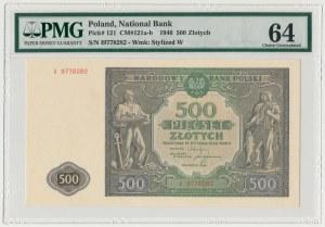 500 złotych 1946 - I - PMG 64