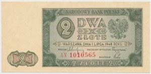 2 złote 1948 - AX