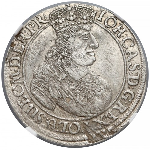 Jan II Kazimierz, Ort Gdańsk 1661 DL - NGC AU55