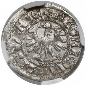 Aleksander Jagiellończyk, Półgrosz Wilno - renesans/renesans - NGC AU58