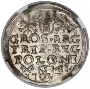 Zygmunt III Waza, Trojak Poznań 1591 - NGC MS62