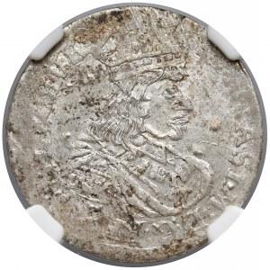 Jan II Kazimierz, Szóstak Bydgoszcz 1662 TT - NGC AU50
