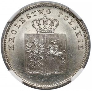 Powstanie Listopadowe, 2 złote 1831 KG - BEZ pochwy - NGC MS64
