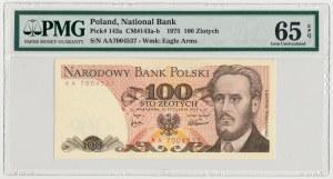 100 złotych 1975 - AA - PMG 65 EPQ