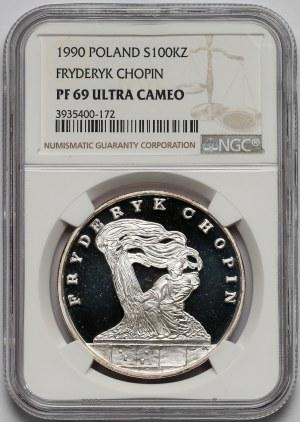 Mały Tryptyk 100.000 złotych 1990 Chopin - NGC PF69 UC