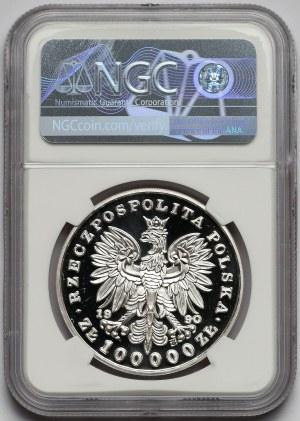 Mały Tryptyk 100.000 złotych 1990 Kościuszko - NGC PF68 UC