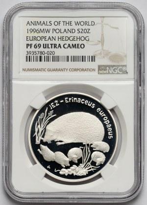20 złotych 1996 Jeż - NGC PF69 UC