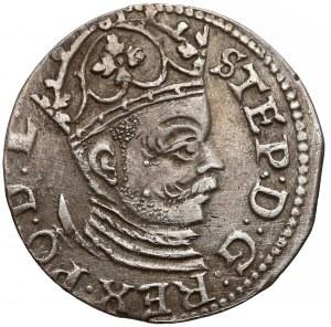 Stefan Batory, Trojak Ryga 1585 - mała głowa