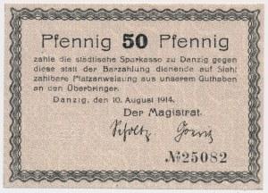 Gdańsk 50 fenigów 1914