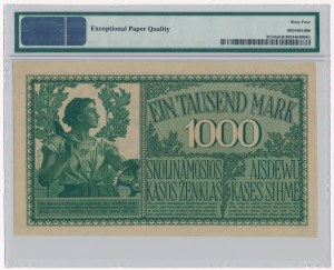 Kowno 1.000 marek 1918 - 6 cyfr - PMG 64 EPQ