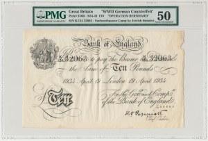 Wielka Brytania, 10 pounds 1934 Operacja Bernhard - PMG 50