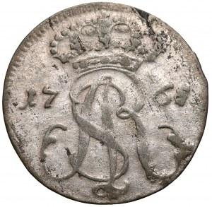 Poniatowski, Trojak Gdańsk 1765 R.E.OE. - szeroka tarcza