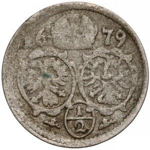 Śląsk, Leopold I, 1/2 krajcara Opole 1679