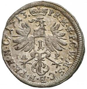 Niemcy, Brandenburgia, 1 krajcar Bayreuth 1713 IAP