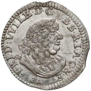 Niemcy, Prusy, Fryderyk Wilhelm, Szóstak Królewiec 1686 BA