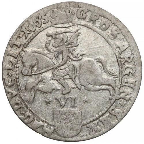 Jan II Kazimierz, Szóstak Wilno 1665