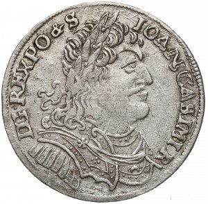 Jan II Kazimierz, Ort Wschowa 1653 - MW w ligaturze