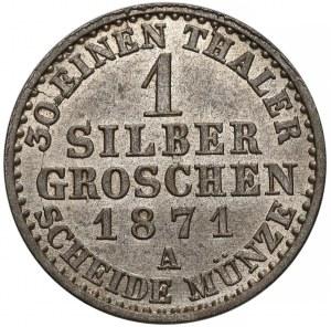 Niemcy, Prusy, Wilhelm I, 1 silber groschen 1871-A