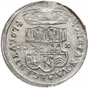 Niemcy, Prusy, Fryderyk Wilhelm I, 1/3 talara 1674 GDZ