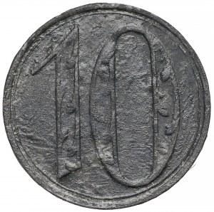 Gdańsk, 10 fenigów 1920 - DUŻE cyfry