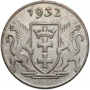 Wolne Miasto Gdańsk, 5 guldenów 1932 Żuraw - rzadkie
