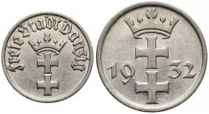 Wolne Miasto Gdańsk, 1/2 i 1 gulden 1932 (2szt)