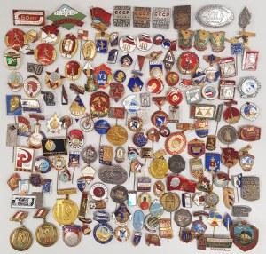 ZSRR Duży zestaw przypinek i odznak MIX