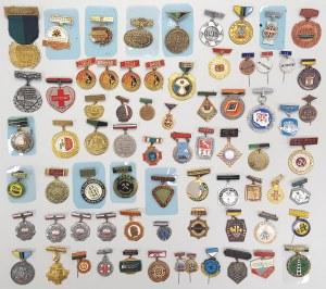 Kolekcja odznak, głównie
