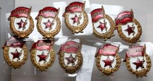 ZSRR zestaw odznak GWARDIA (10szt)
