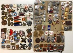 Kolekcja drobnych, wojskowych odznak i przypinek
