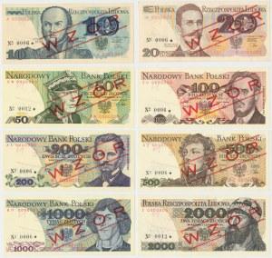 WZORY od 10 do 2.000 złotych z lat 1979-82 - No.0006 i 0012 (8szt)
