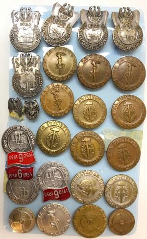 Kolekcja odznak, głównie za Pracę Społeczną (25szt)