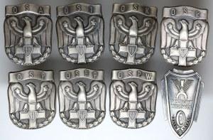LWP, Odznaki szkół oficerskich - zestaw 7szt i Wzory Kierowca