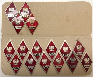 LWP, Zestaw odznak szkolnych (12szt)